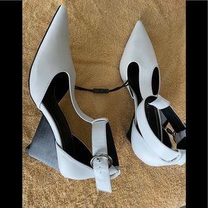 Zara white pumps
